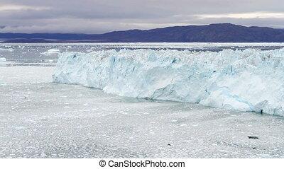 The Eqi glacier time lapse