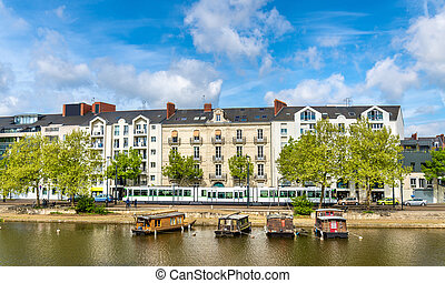 The Erdre River in Nantes, France - The Erdre River in ...