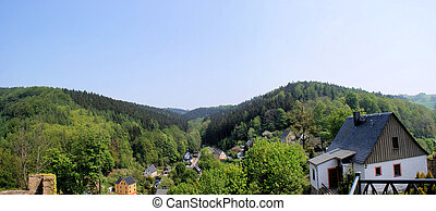The Erzgebirge in the spring