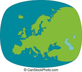 Europe abstract round map