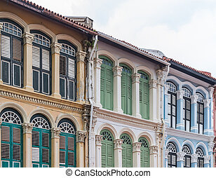 The European style building of the old comerce shop in the China town.