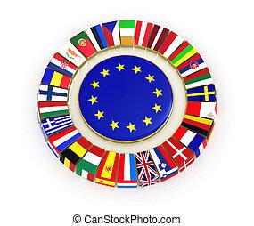 The European Union. 3d