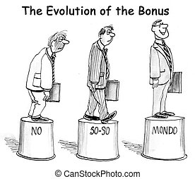 The evolution of the bonus on pedestal