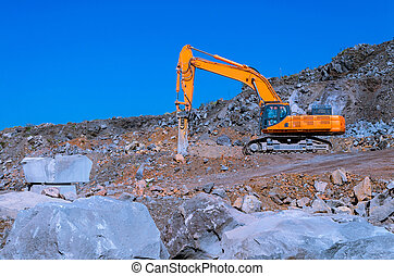 The excavator in mine