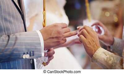 The exchange of wedding rings in the Orthodox Church