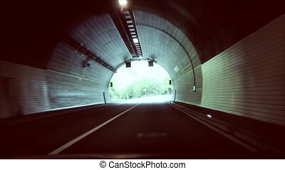 the exit from a tunnel