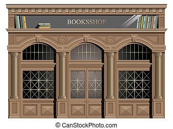 The exterior facade of wood. - The exterior facade of wood...
