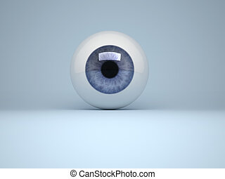 Digitally generated image of human eye - 3d render