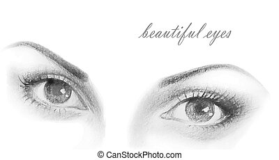 the eyes of a beautiful woman