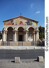 The facade of the Church of All Saints - Lush facade of the ...