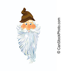 The Face of A Gnome - Scalable Vector EPS10 Illustration