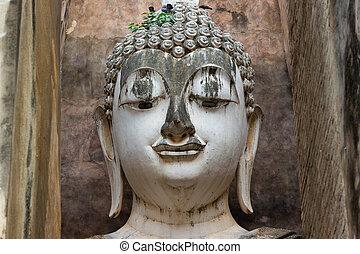 Big Buddha, The Buddha image is large at Sukhothai Thailand