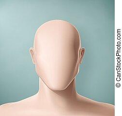 The Faceless - Man portrait, faceless, eps 10