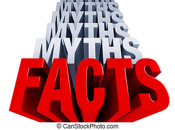 "The Facts Come Forward - A shiny bold, red ""FACTS"" dominates..."