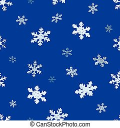 The falling snowflakes. Seamless background