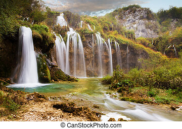 The falls of Plitvice