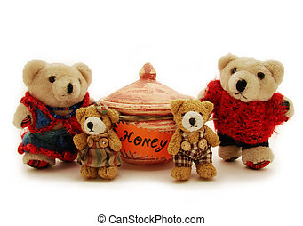 family of teddy-bears