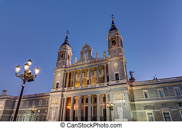 The famous Almudena cathedral of Madrid