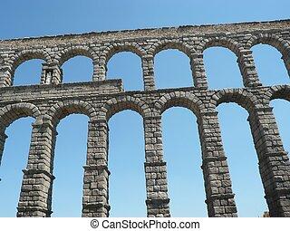 aqueduct - the famous aqueduct in segovia in spain