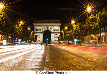 Famous Arc de Triomphe in Paris, France