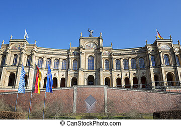 The famous bayerischer landtag