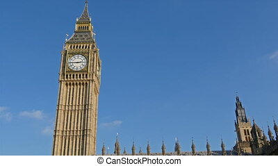 The famous Big Ben tower clock in London