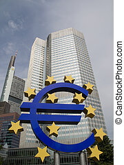 Euro Sign - The Famous Big Euro Sign at the European Central...