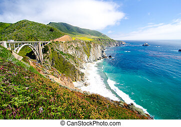 The Famous Bixby Bridge on California State Route 1