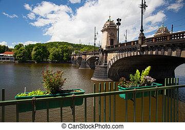 The famous Bridge of Legions in Prague
