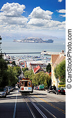 the famous Cable Car in San Francisco  USA