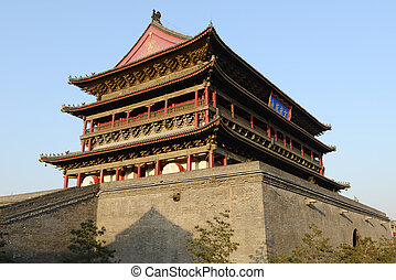 Drum Tower at the city center of Xian, China