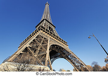 The famous Eiffel tower