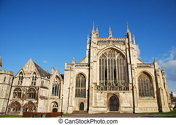 Gloucester Cathedral - the famous Gloucester Cathedral, ...
