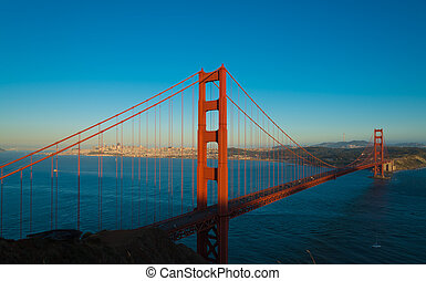 The famous Golden Gate Bridge in San Francisco California