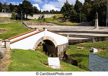The famous historic Bridge of Boyaca in Colombia