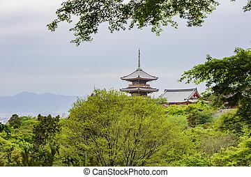 The famous Kiyomizu dera Temple of Kyoto, Japan