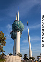 The famous Kuwait Towers in Kuwait City, Middle East