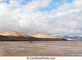 The famous lagoon in Risco El Paso at Playas de Sotavento,...