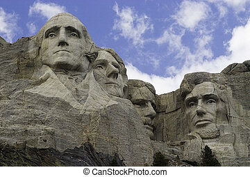 The famous monument, Mt. Rushmore.