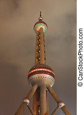 The famous Oriental Pearl Tower in Shanghai, China