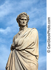 The famous poet Dante Alighieri. Piazza Santa Croce in...