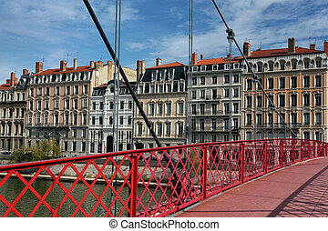 The famous red footbridge