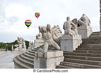 The famous rock sculpture park in Oslo