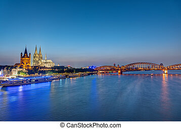 The famous skyline of Cologne