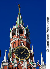 Spasskaya tower - The famous Spasskaya tower with its ruby ...