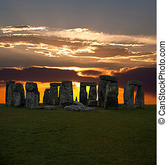 The famous Stonehenge in