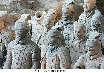 The famous terracotta warriors - Xian China