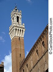 "Torre del Mangia - The famous ""Torre del Mangia"" in Siena (..."