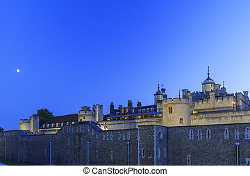 The famous Tower of London near Tower Bridge