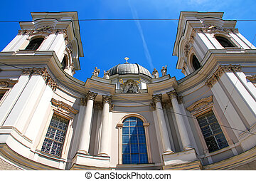 The famous University Church in Salzburg - The famous...